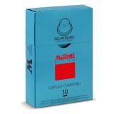 Кофе в капсулах Musetti Decaffeinated (Декаффинато), упаковка 10 капсул по 5 гр, для кофемашин Nespresso
